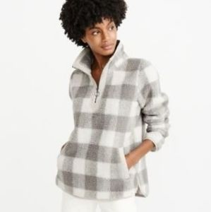 abercrombie and fitch half sherpa pullover